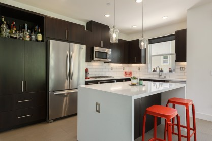 Red Stools Kitchen