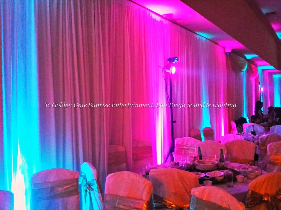 LED UpLighting Rental San Diego Wall Lights Rental  SAN DIEGO SOUND AND LIGHTING RENTAL