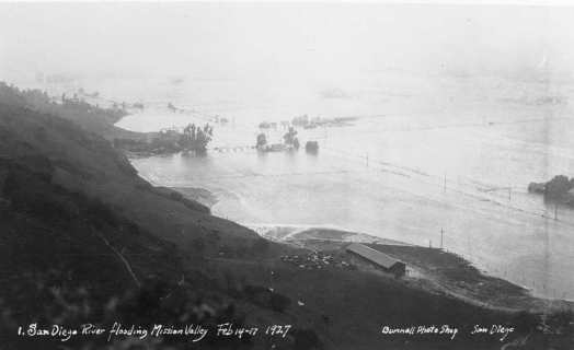 Mission Valley under water, Feb. 1927.