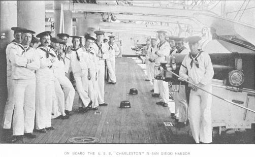 The crew of the USS Charleston.