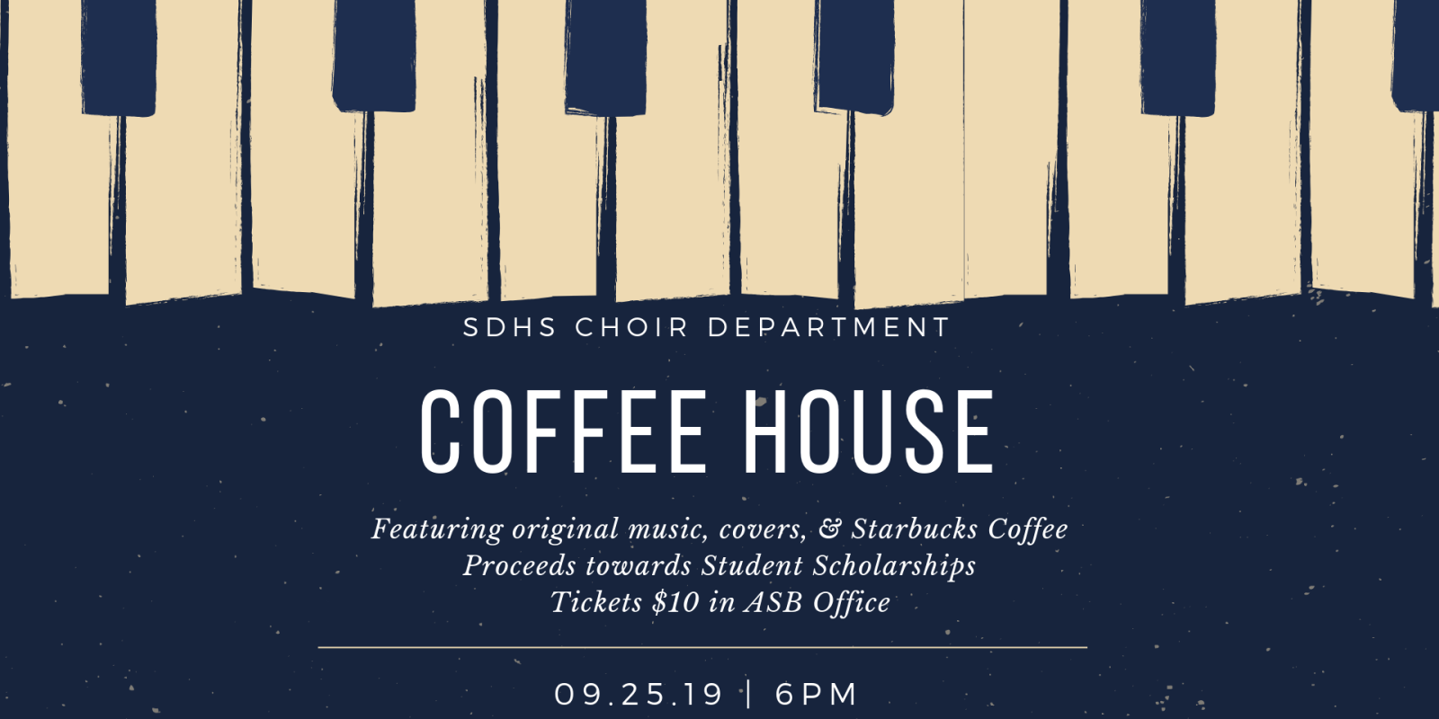 SDHS Coffee House 9/25