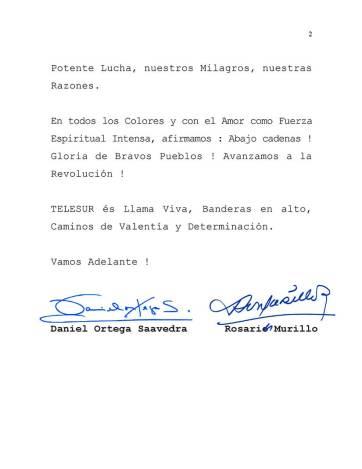 mensaje-nicaragua-telesur-2