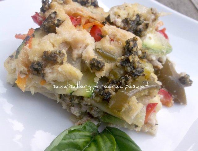 Zucchini Pesto Lasagna w Cashew Cream