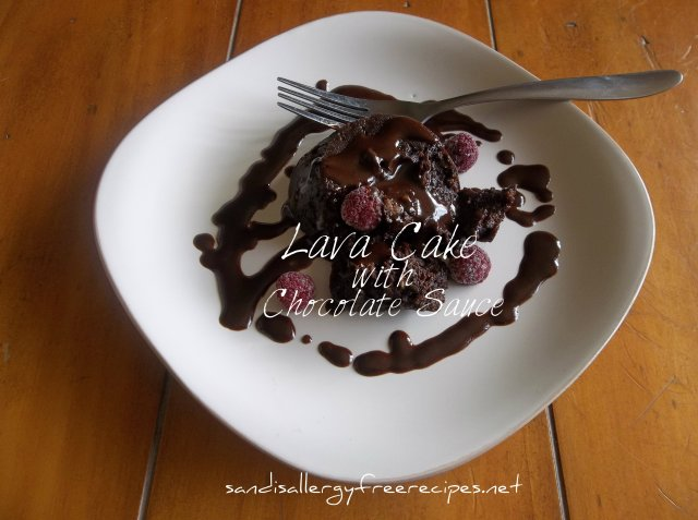 Lava Cake with Chocolate Sauce