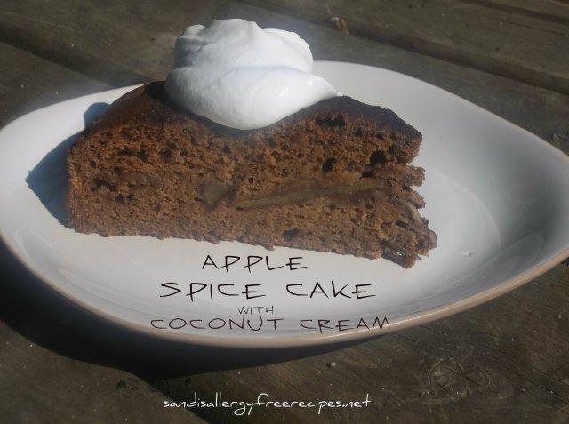 Apple Spice Cake with Coconut Cream