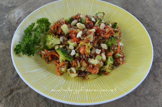 Cashew Cranberry Quinoa Salad w Maple Citrus Dressing