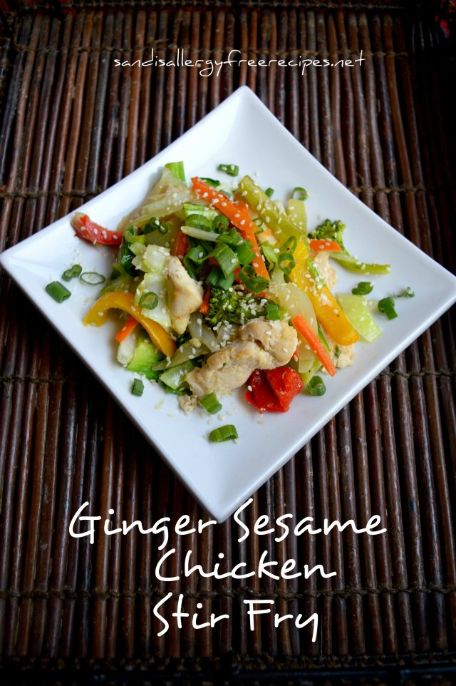 Ginger-Sesame Chicken Stir Fry