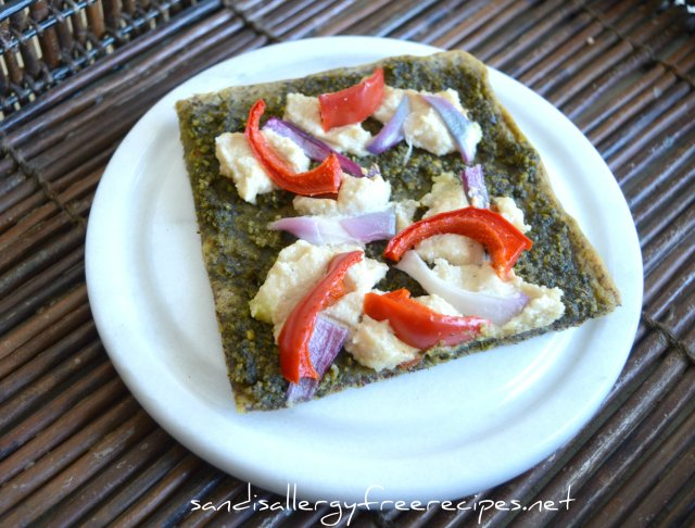 Paleo Pesto-Pizza