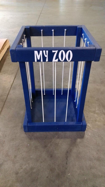Stuffed Animal Zoo  Stuffed animal storage  toy box storage  toy storage  childrens room