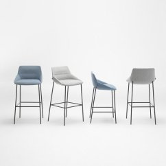 Nice Chair Stool Teal Leather Sandler Seating Modern Contemporary Contract Furniture Dunas Xs