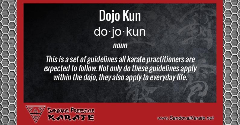 Dojo Kun Definition