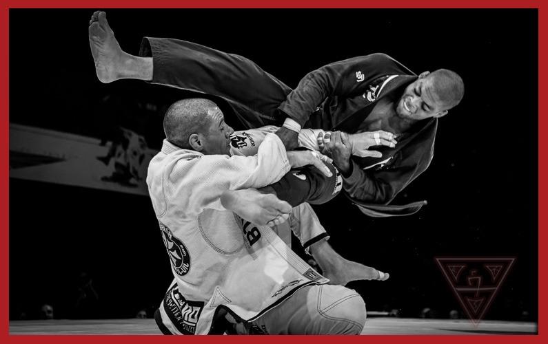 Expert Jiu-Jitsu Practioners Fighting