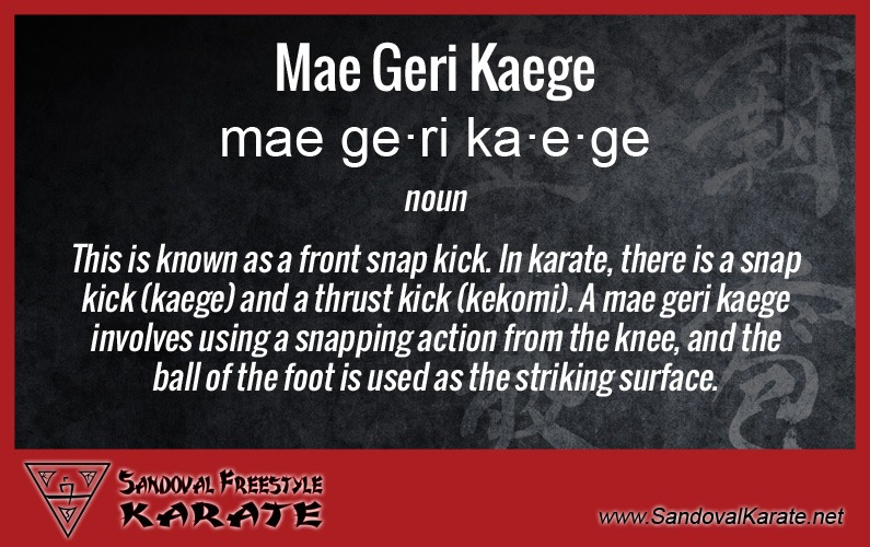 Mae Geri Kaege Definition
