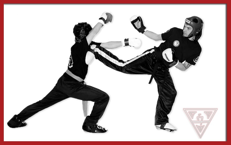 Karate Practitioners Point Sparring