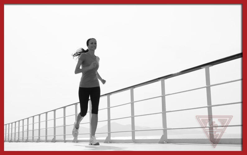 Woman Enjoying Active Lifestyle Jogging