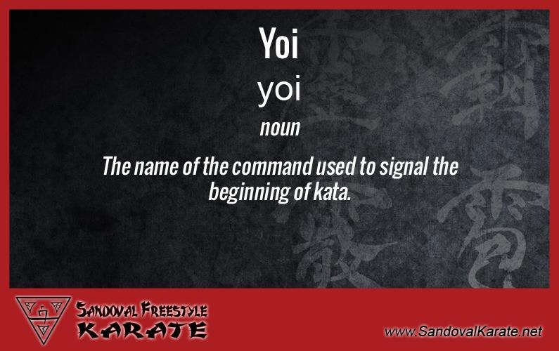 Yoi Definition