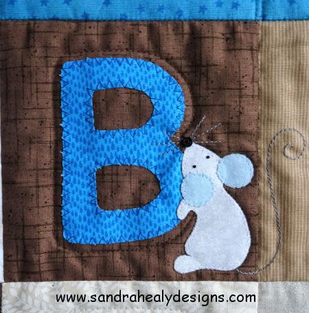 Alphabet quilt B letter