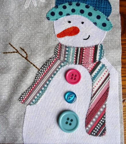 Sandra Healy Designs Calendar Quilt January Snowman