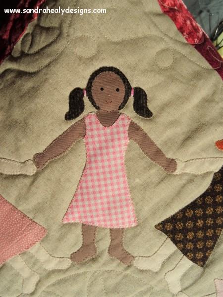 Sandra Healy Designs Gingham girl close up