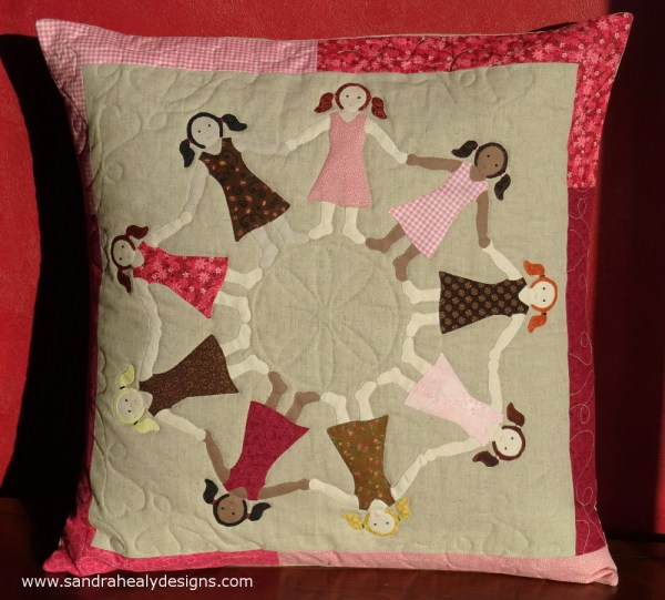 Sandra Healy Designs Dancing girls cushion pattern