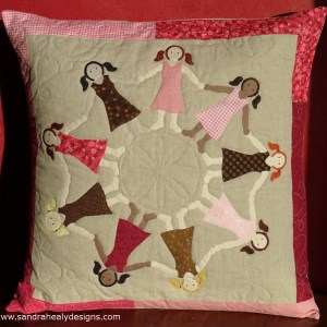 Sandra Healy Designs Dancing girls cushion pattern