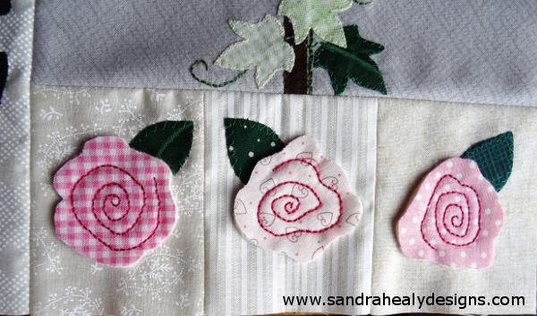 Sandra Healy Designs Calendar Quilt February Roses