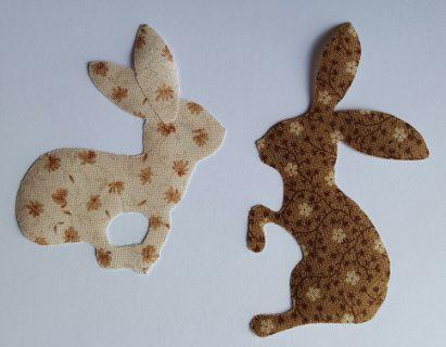 Sandra Healy Designs Calendar Quilt March Block Flowery Hares