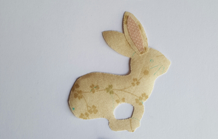 Sandra Healy Designs Calendar Quilt March Block Pale Hare