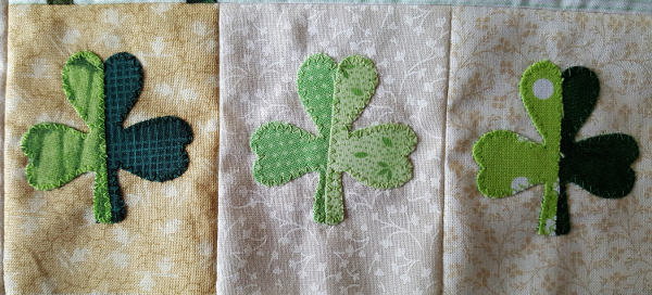 Sandra Healy Designs Calendar Quilt March Block Shamrocks