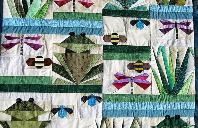 Paper pieced frog quilt