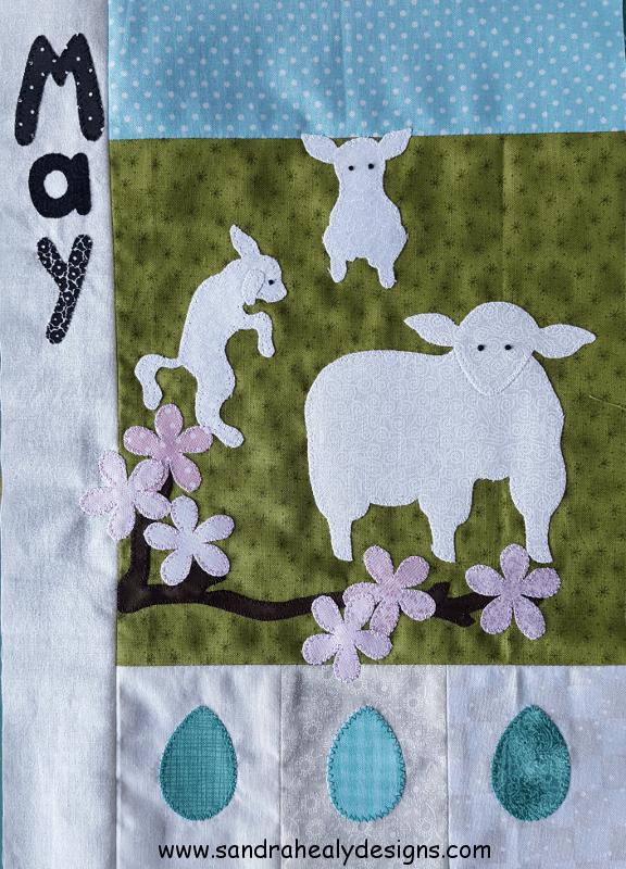Sandra Healy Designs Calendar Quilt May Block