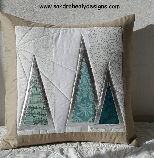 Sandra Healy Designs Christmas Tree Cushion Pillow Pattern