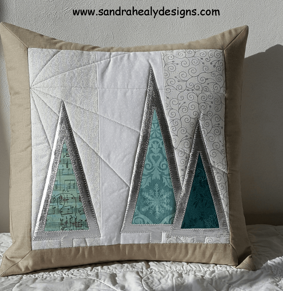 Sandra Healy Designs Silver Tree Cushion