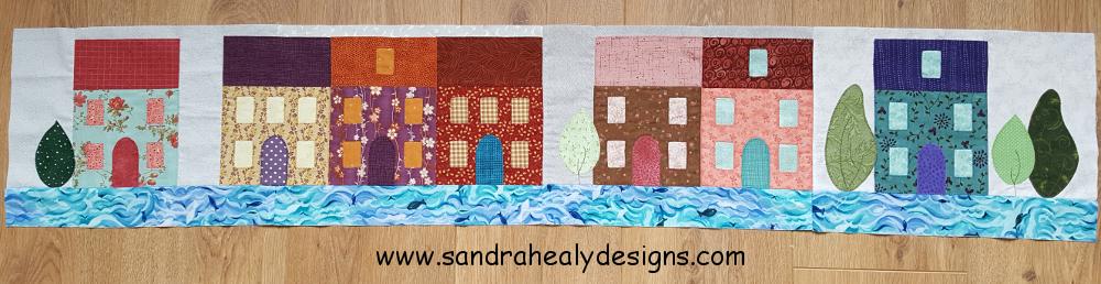 Sandra Healy Designs, In My Neighborhood, Scrappy Seaside Town Row