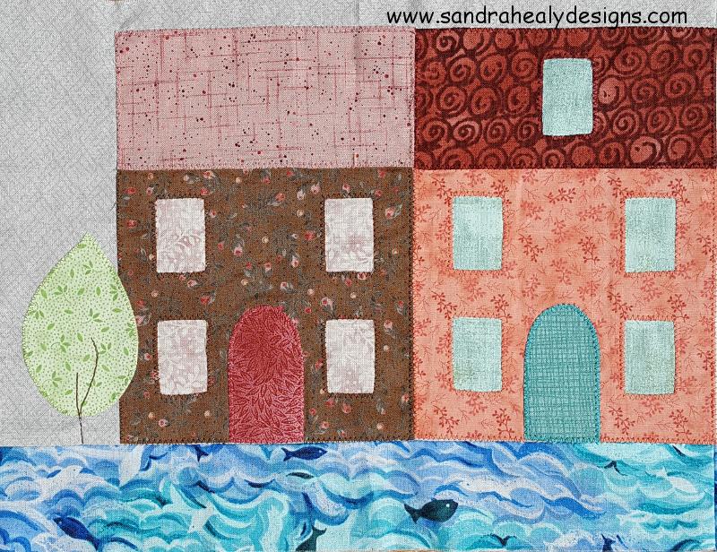 Sandra Healy Designs, In My Neighborhood, Pastel Houses
