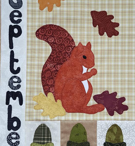 Sandra Healy Designs Calendar Quilt September Block