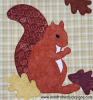 Sandra Healy Designs Calendar Quilt Squirrel Applique