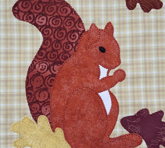 Sandra Healy Designs Calendar Quilt Squirrel Applique
