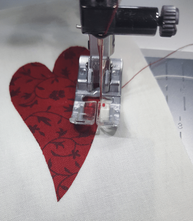 How To Machine Appliqué Sandra Healy Designs Quilt Pattern Designer Fascinating How To Applique With Regular Sewing Machine