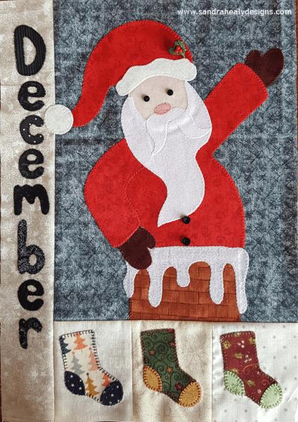 Sandra Healy Designs Calendar Quilt December block