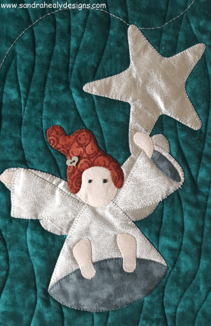 Sandra Healy Designs Christmas Angel quilt Dangling Angel