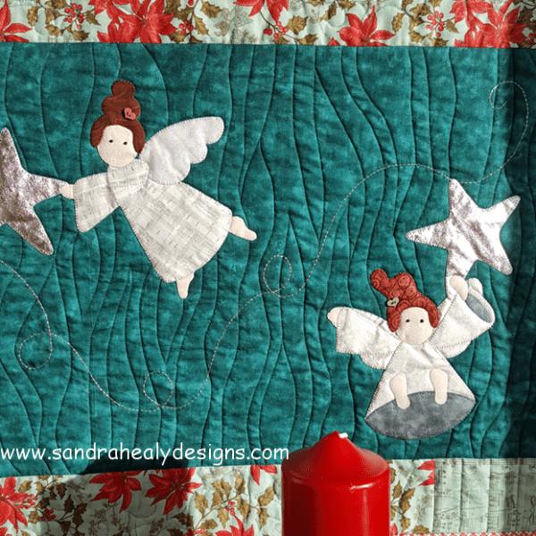 Sandra Healy Designs Christmas Angel Quilt