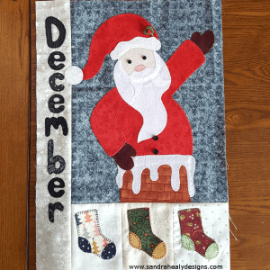 Sandra Healy Designs Calendar Quilt December block digital pattern