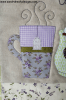 Sandra Healy Designs 'Warm Wishes' pillow pattern, mug detail