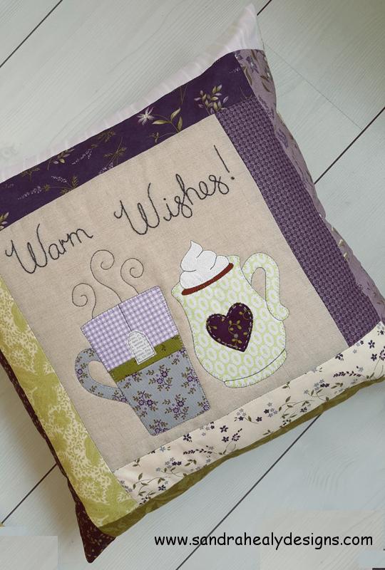 Sandra Healy Designs pillow pattern warm wishes