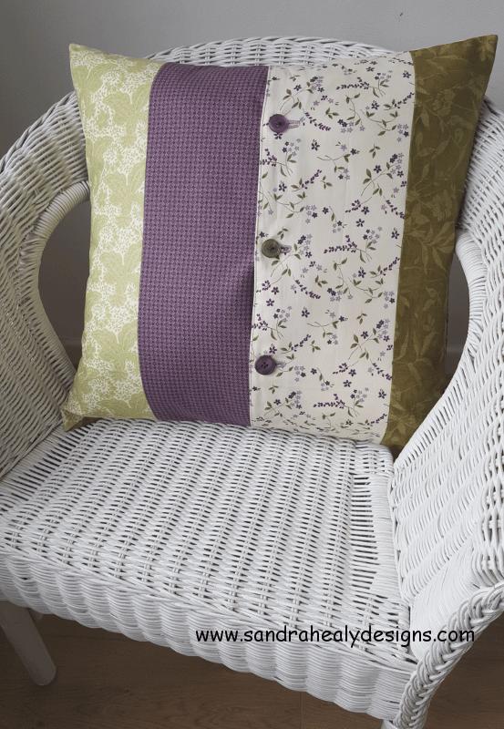 Sandra Healy Designs pillow pattern back view