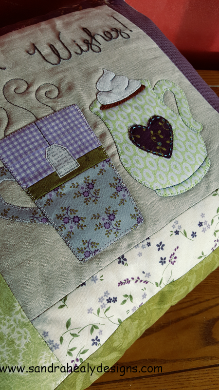 Sandra Healy Designs pillow pattern warm wishes quilt detail