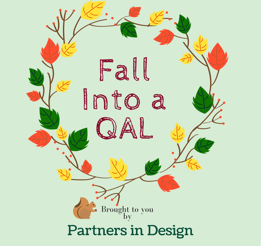 Sandra Healy Designs Fall Into a Quiltalong graphic