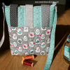 Sandra Healy Designs Button Tab Messenger Bag Back view