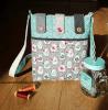 Sandra Healy Designs Button Tab Messenger Bag